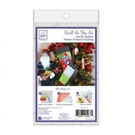June Tailor Quilt As You Go Holiday Stocking Stripes