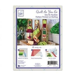 June Tailor Quilt As You Go Wine Totes Pk 3
