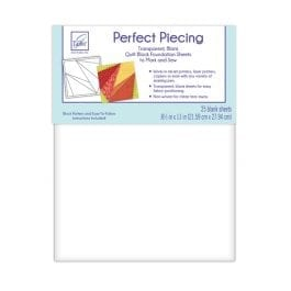 June Tailor Perfect Piecing Foundation Sheets 8.5 x 11in/21.5 x 28cm Pk 25