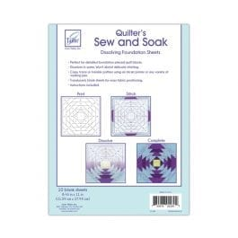 June Tailor Quilters Sew and Soak 8.5 x 11in/21.5 x 28cm Pk 10