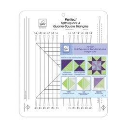 June Tailor Half and Quarter Square Triangle Ruler
