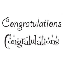 Woodware Just Words 1.5″ x 3″ Stamp – Congratulations