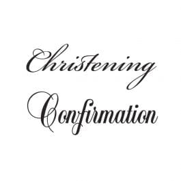 Woodware Just Words 1.5″ x 3″ Stamp – Christening/Confirmation