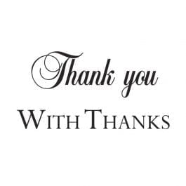 Woodware Just Words 1.5″ x 3″ Stamp – Thank You