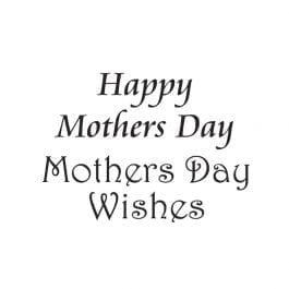 Woodware Just Words 1.5″ x 3″ Stamp – Happy Mothers Day