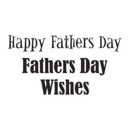 Woodware Just Words 1.5″ x 3″ Stamp – Happy Fathers Day