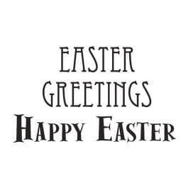 Woodware Just Words 1.5″ x 3″ Stamp – Easter Greetings
