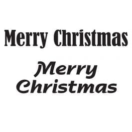 Woodware Just Words 1.5″ x 3″ Stamp – Merry Christmas