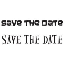 Woodware Just Words 1.5″ x 3″ Stamp – Save The Date