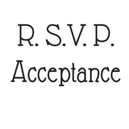 Woodware Just Words 1.5″ x 3″ Stamp – RSVP/Acceptance