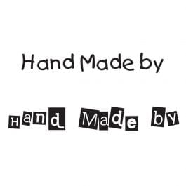 Woodware Just Words 1.5″ x 3″ Stamp – Hand Made By