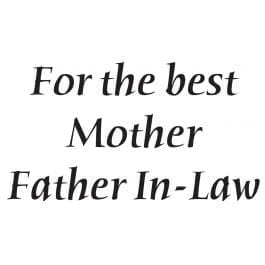 Woodware Just Words 1.5″ x 3″ Stamp – Mother/Father-in-Law