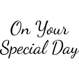 Woodware Just Words 1.5″ x 3″ Stamp – On Your Special Day
