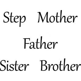 Woodware Just Words 1.5″ x 3″ Stamp – Step Mother/Father/Sister/Brother