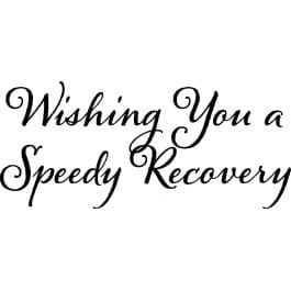 Woodware Just Words 1.5″ x 3″ Stamp – Speedy Recovery