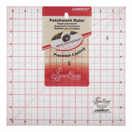 Sew Easy Patchwork Ruler 9.5in x 9.5in