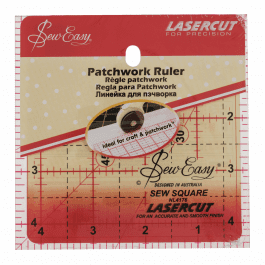 Sew Easy Patchwork Ruler 4.5in x 4.5in