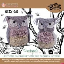 Knitty Critters Crochet/Knitting Kit Country Companions Ozzy Owl