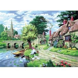 Royal & Langnickel Adult Large Painting By Numbers – Duck Feeding