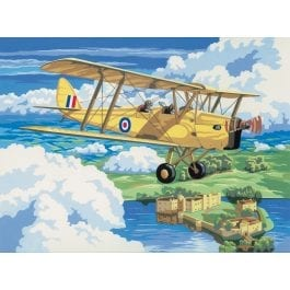 Royal & Langnickel Adult Large Painting By Numbers – Nostalgic Plane