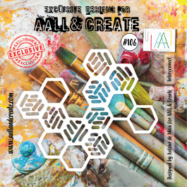 AALL & Create Clear Stencil 6″ x 6″ Interconnect