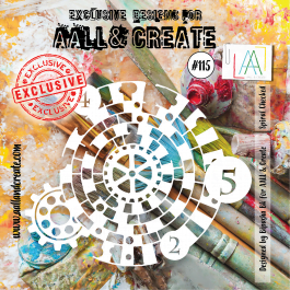 AALL & Create Clear Stencil 6″ x 6″  Spiral Checked