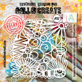 AALL & Create Clear Stencil 6″ x 6″ Petals and Pods