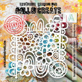 AALL & Create Clear Stencil 6″ x 6″ Saturday Morning