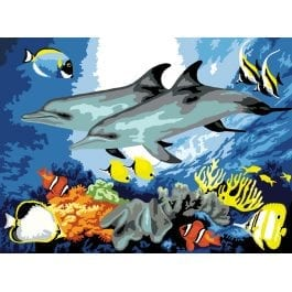 Royal & Langnickel Junior Large Painting By Numbers – Dolphins