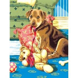 Royal & Langnickel Junior Painting By Numbers – Puppy With Teddybear