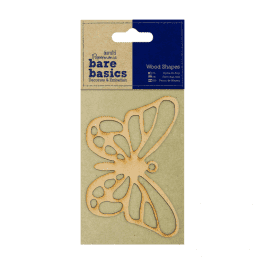 Papermania Bare Basics Wood Shapes – Butterfly – Pk 1