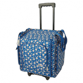 Papermania Wheelable Craft Tote – Navy Floral