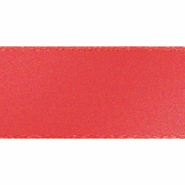 Berisfords Double Faced Satin Ribbon 35mm Coral