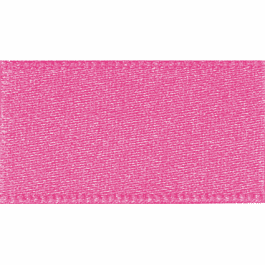 Berisfords Double Faced Satin Ribbon 7mm Hot Pink