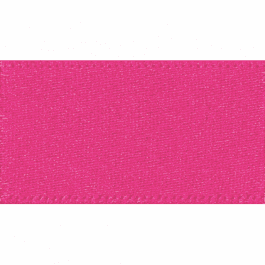 Berisfords Double Faced Satin Ribbon 3mm Shocking Pink