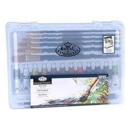 Royal & Langnickel Clear Case Acrylic Painting Set