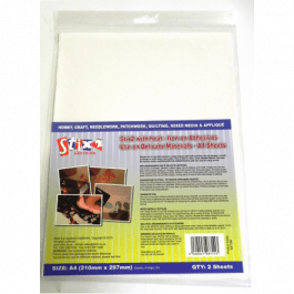 Stix2 Iron On Adhesive for Delicate Materials 2 x A4 Sheets