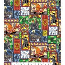 Craft Cotton Company Harry Potter Printed Cotton 110cm Stained Glass Window