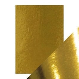Craft Perfect Gloss Mirror Card A4 250gsm Polished Gold Pk 5