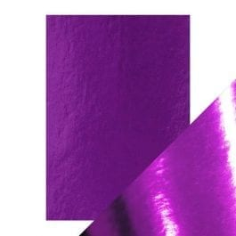 Craft Perfect Gloss Mirror Card A4 250gsm Electric Purple Pk 5