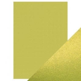 Craft Perfect Pearlescent Card A4 250gsm Lime Light Pk 5