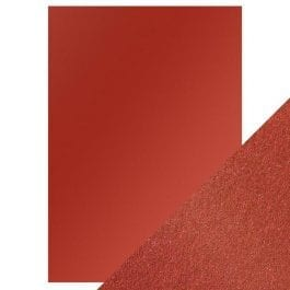 Craft Perfect Pearlescent Card A4 250gsm Red Velvet Pk 5
