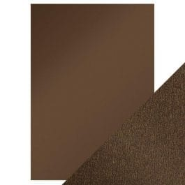 Craft Perfect Pearlescent Card A4 250gsm Glazed Chestnut Pk 5