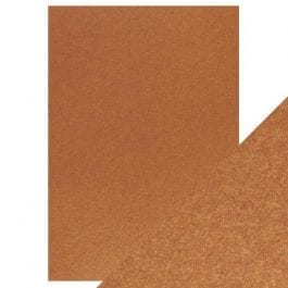 Craft Perfect Pearlescent Card A4 250gsm Rusted Crimson Pk 5