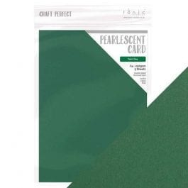 Craft Perfect Pearlescent Card A4 250gsm Palm Tree Pk 5