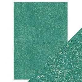 Craft Perfect Glitter Card A4 250gsm Turquoise Lake Pk 5