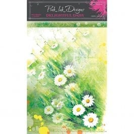 Pink Ink Rice Paper A4 Delightful Daisy Pk 6