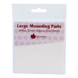 Woodware Large Mounting Pads 2mm Pk 50 20mm x 10mm
