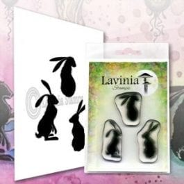 Lavinia Clear Polymer Stamp Wild Hares Set Large