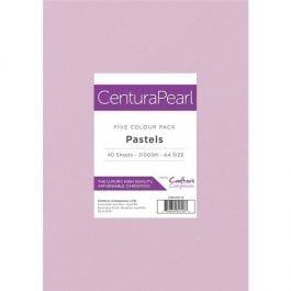 Centura Pearl A4 Card Pack 310gsm Pk 40 – Pastels